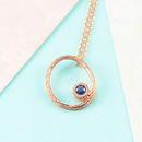 Blue Sapphire Birthstone Rose Gold Necklace