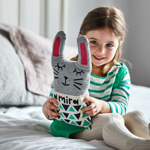Personalised Rabbit Cushion - gifts: under £25