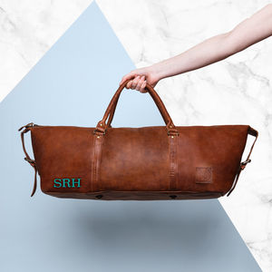 Personalised Leather Armada Duffle Holdall - gifts for him