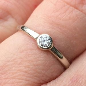 Ethical Diamond Engagement Ring In Solid 9ct Eco Gold