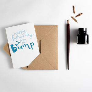 'Happy Father's Day From The Bump' Letterpress Card