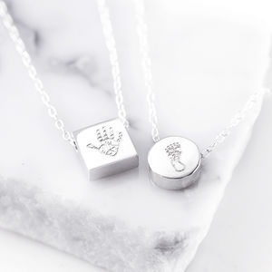 Engraved Handprint Pendant