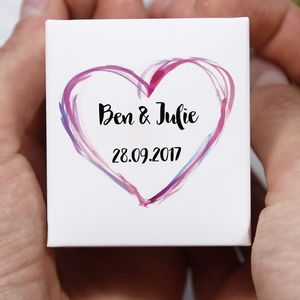 Anniversary Personalised Ring Jewellery Box
