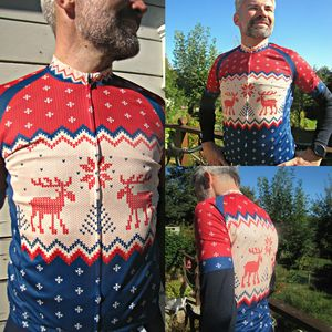 Mens Short Sleeve Christmas Jumper Cycle Jersey - Mens T-shirts & vests