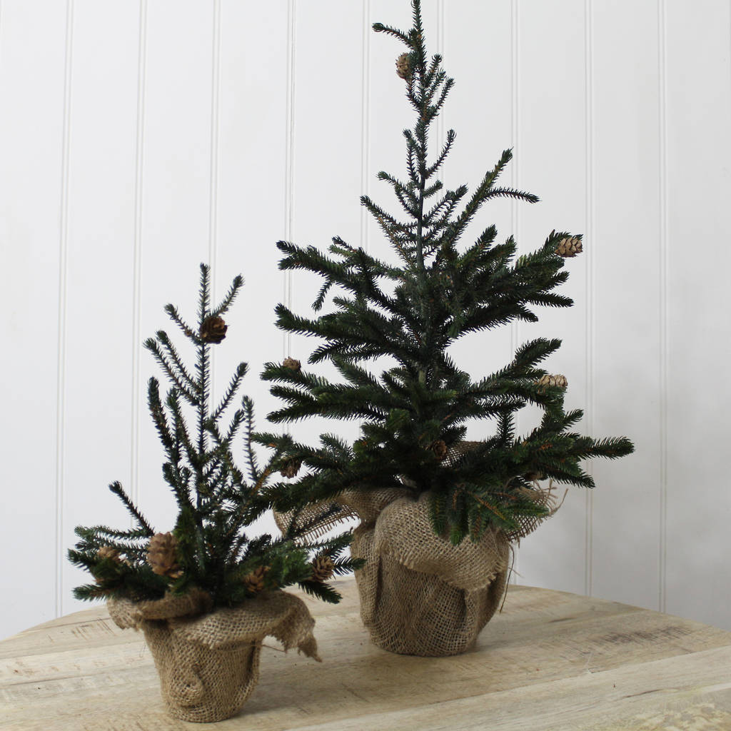 Miniature Artificial Christmas Trees