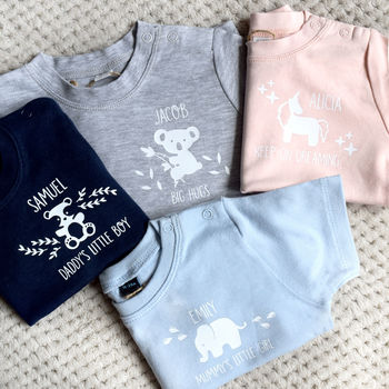 Personalised Baby Animal Clothing Set