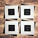 Mini Marble Thank Cards, Set Of Six