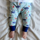 Organic Nautical Whale Baby Leggings