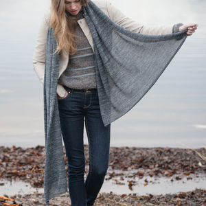 Alpaca Frosted Jersey Scarf - scarves