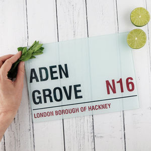 Personalised 'Street Sign' Chopping Board - chopping boards