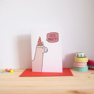 Let's Party Alpaca Birthday Card