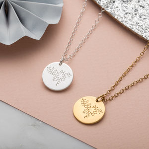 Personalised Happiness Molecule Necklace - necklaces & pendants