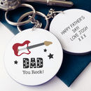 Personalised Dad You Rock! Message Keyring