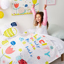 Children's Personalised Pastel Bugs Blanket