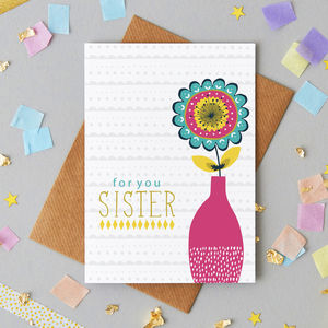 'For You Sister' Greetings Card - summer sale