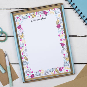 Personalised Woodland Animals Writing Set - summer sale