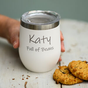 Personalised Reusable Travel Coffee Mug