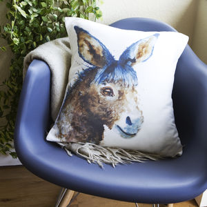 Inky Donkey Cushion - children's room
