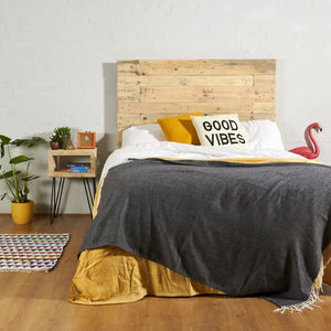 Anderson Reclaimed Industrial Pallet Wooden Headboard - beds