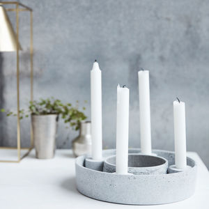 Resin Stone Candle Stand Advent Candle - advent calendars