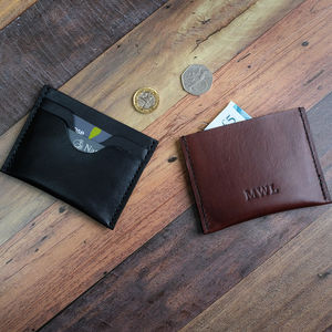 Leather Card Wallet With Notes Compartment - 30th birthday gifts