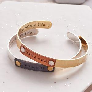Open Cuff Dreamer Bangle - bracelets & bangles