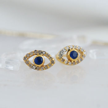 evil eye earrings diamond