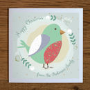 Personalised Christmas Cards With Robin
