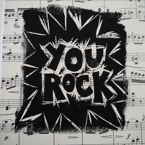 You Rock Handmade Print