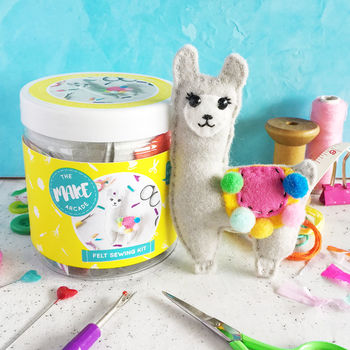Llama Felt Sewing Craft Kit