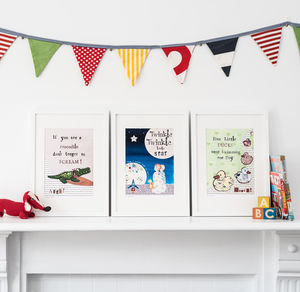 Nursery Rhyme Art - Set Of Three - posters & prints for children