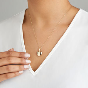 Small Solid Gold Or Silver Heart Locket Necklace - necklaces & pendants