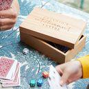 Personalised Domino, Cards And Dice Games Box