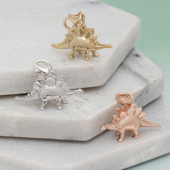 Sterling Silver Or 18ct Gold Clip On Dinosaur Charms