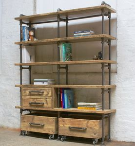 Ana Maria Bookcase With Integrated Drawer Units - furniture