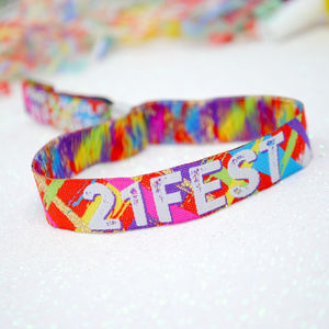 21st Birthday Party Festival Wristbands 21 Fest