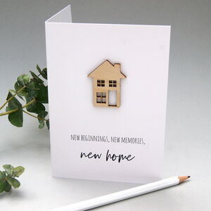 Wooden Trinket New Home Card