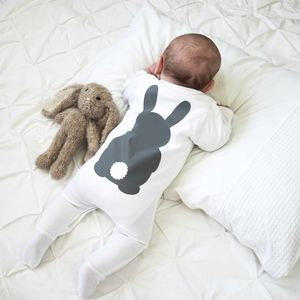 Bunny Rabbit Baby Sleepsuit - baby shower gifts & ideas