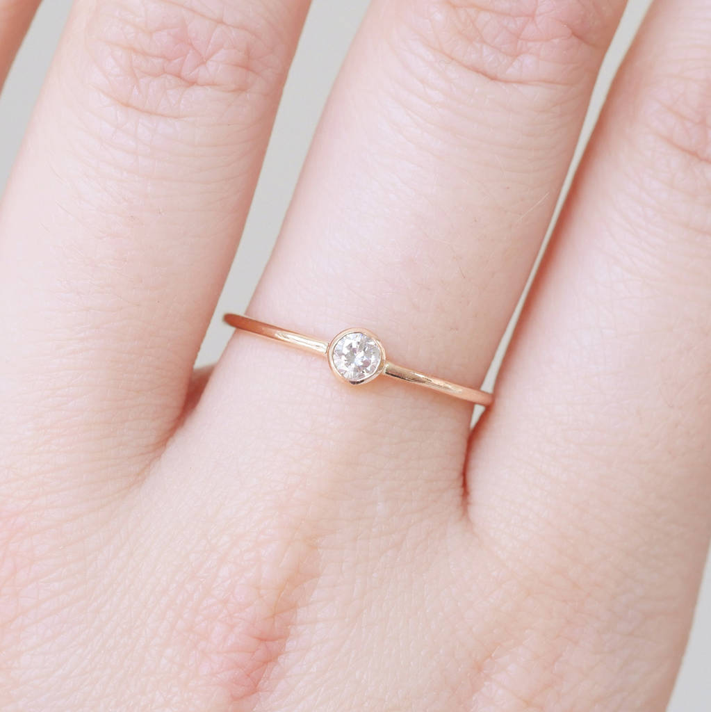9ct rose gold dainty diamond engagement ring by beetroot. Black Bedroom Furniture Sets. Home Design Ideas