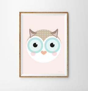 Owl Children's Print - children's pictures & paintings