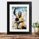 Official Pelé Framed Print By Sidney Maurer