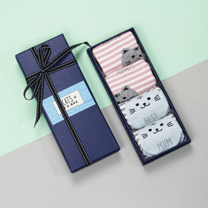 Personalised Cat Stripe Socks