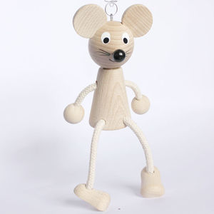 Springy Mouse Wooden Toy