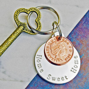 New Home Coin Keyring - new home gifts