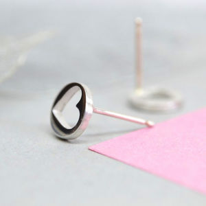 Handmade Open Heart Earrings - wedding earrings