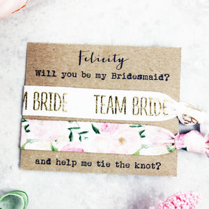 Will You Be My Bridesmaid Hair Tie Set - be my bridesmaid?