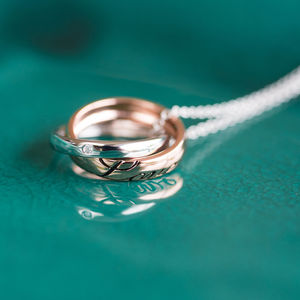 'Love' Rings Necklace