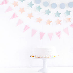 Mini Pink Or Blue Party Bunting Set - bunting & garlands