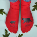 Daddy Bear And Cub Personalised Socks