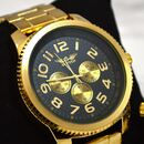 Personalised Men's Gold Wrist Watch